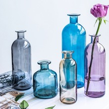 Glass Vases Basket-Bottles Flower-Pot Hydroponic Decoration Home Transparent Nordic Dried
