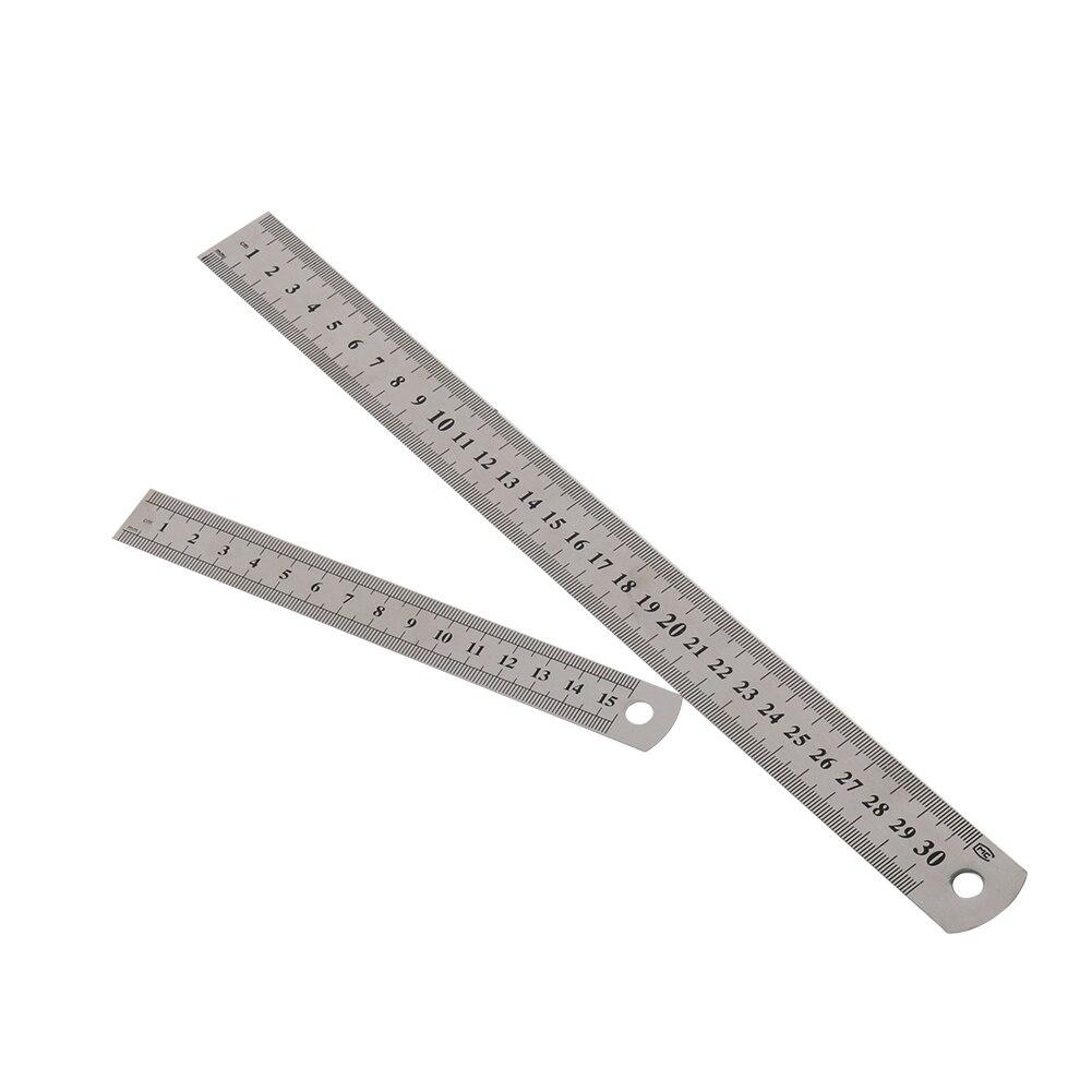 outil-de-mesure-de-precision-de-regle-metrique-de-regle-droite-d'acier-inoxydable-de-double-cote-15cm-6-pouces-30cm-12-pouces-fournitures-de-bureau-d'ecole