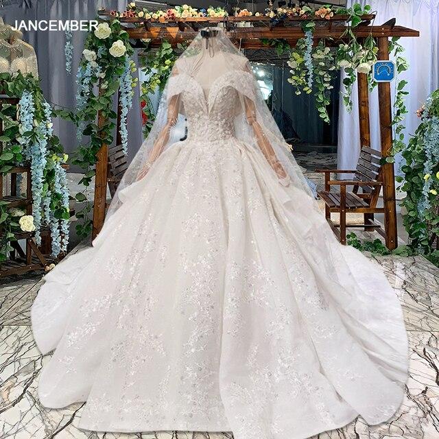 HTL822 מתוקה חתונת שמלות ארוכה רכבת אפליקציות תחרה כלה שמלות כדור שמלה עם צעיף vestidos דה novia 11.11 קידום