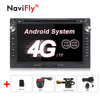 2din 7Touch Screen Android 8.1 Car DVD Player forVW Golf4 T4 Passat B5 Sharan with 4G GPS Bluetooth Radio SD USB 16GB Map