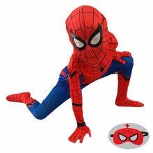 Child Iron Spider Cosplay Amazing Spider-boy Halloween Costume Peter Parker Zentai Suit Superhero Bodysuit for Kids Party Tights