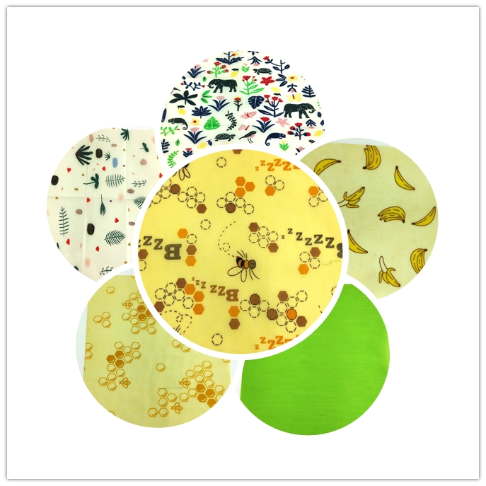 Beeswax Food Wrap Sustainable Plastic Free Food Storage Organic Beeswax Wrap Cling Wrap Replacement For Sandwich