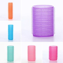 6pcs Self Grip Hair Rollers Cling Any Size Home Salon DIY Hair Styling Tools Hairdressing Hair Curlers Roller