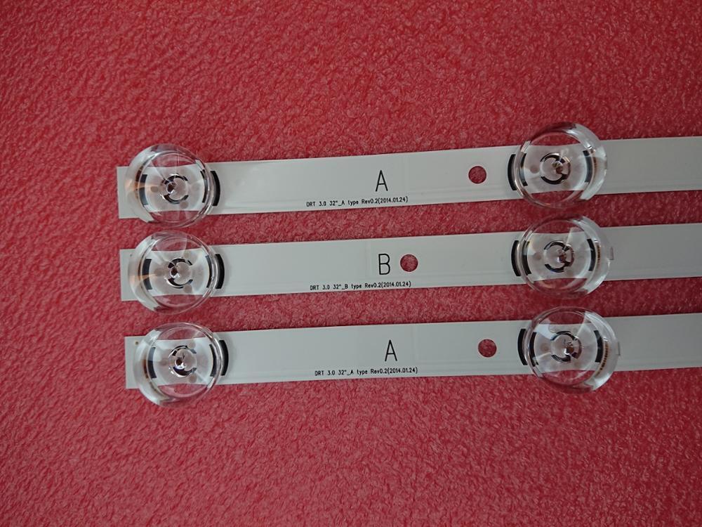3 PCS LED strip for LG 32LB5800 32LF560V LGIT UOT A B 6916L 1974A 1975A 6916L 2223A 2224A innotek DRT 3.0 32 WROOEE 0418D 0419Dstripstrip ledstrip a led -
