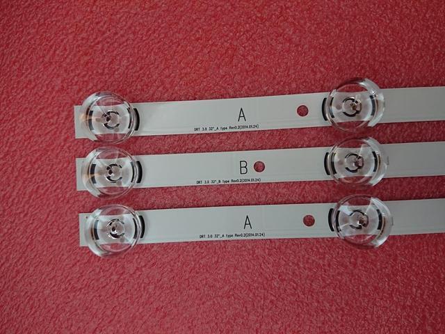 Светодиодная лента для LG 32LB5800 32LF560V LGIT UOT A B 6916L 1974A 1975A 6916L 2223A 2224A innotek DRT 3,0 32 WROOEE 0418D 0419D, 3 шт.