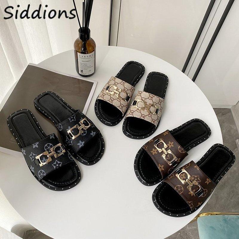 Женские туфли лодочки «мюли с открытым носком»; Шлепанцы; Большие размеры; Туфли с перьями на плоской подошве; Тапочки из искусственной кожи; Роскошная дизайнерская обувь для женщин; Женская летняя обувь; 2020 Тапочки      АлиЭкспресс