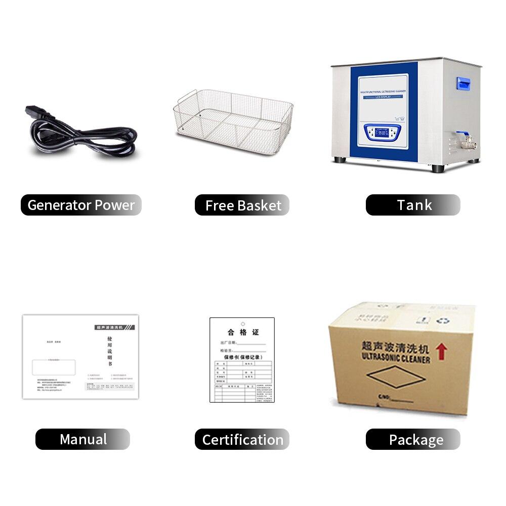 Professionele Ultrasone Reiniger 30L Ontgassen Sweep frequentie Lage ruis Macht Tijd Temperatuur Verstelbare PCB Printplaat - 6