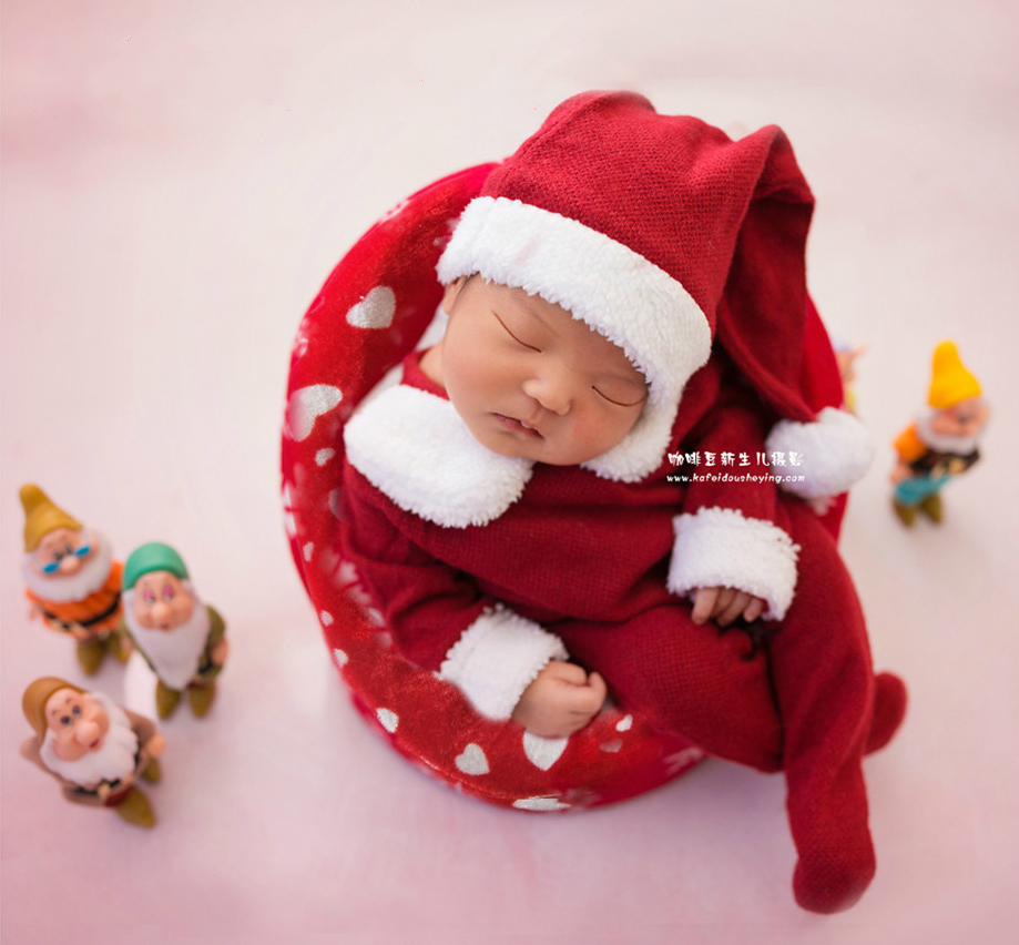 Baby Seat Christmas Sofa Infant Photography Prop New Year Theme Shooting Newborn Baby Posing Container New Arrival