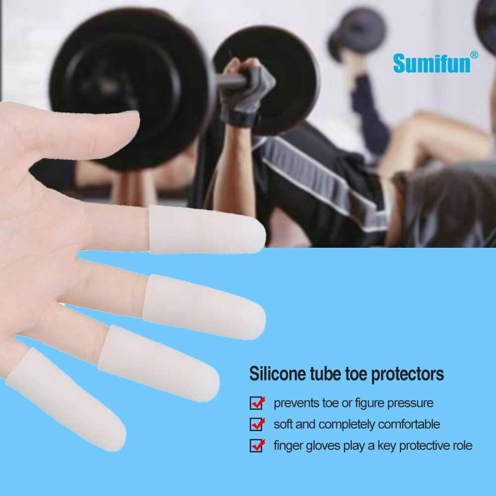 2 Buah Gel Silikon Tabung Jari Kecil Toe Protector Jagung Blister Melindungi Pereda Nyeri Lengan Penutup Pemisah Jari Kaki Perawatan Kaki alat