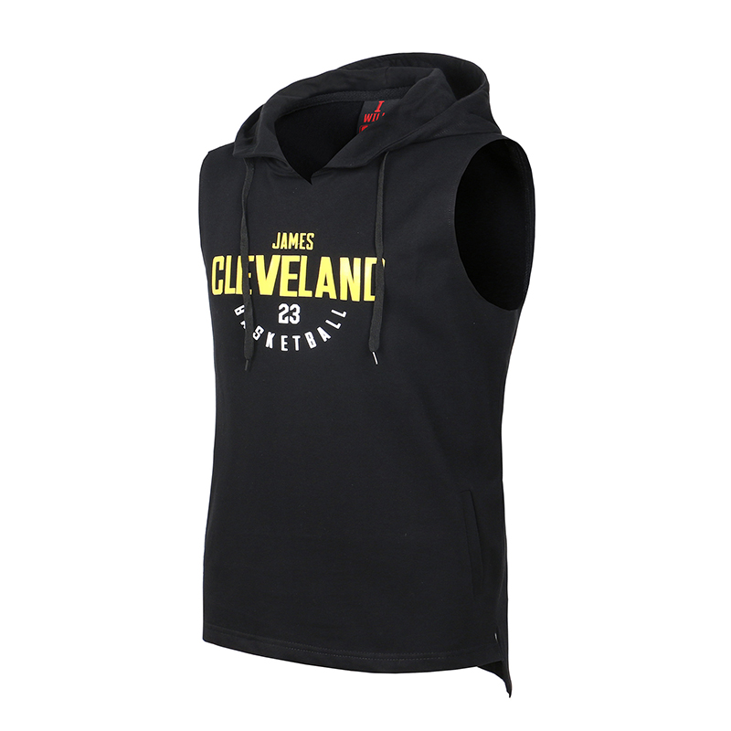 Men's Basketball Sports Hoodies Training Suit Sleeveless Hoodie Basketball Vest Training Jersey