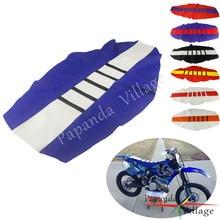 Azul branco sujeira pit bike com nervuras pinça tração capa de assento para yamaha yz yzf wr YZ-X YZ-FX wrf ttr 85 125 250 450 te tx tc