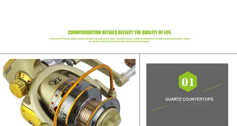 Alta qualidade ouro SA1000-7000 carretel de pesca