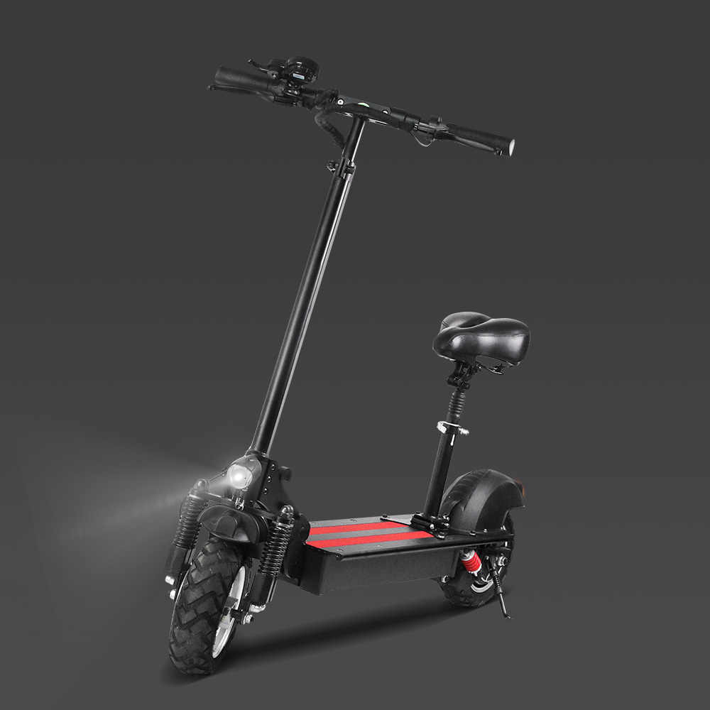 Expédié de EuropeJCB-DS2 électrique Double moteur scooter 1200W 10.5 pouces 48V 10.4A vide tout-terrain scooter