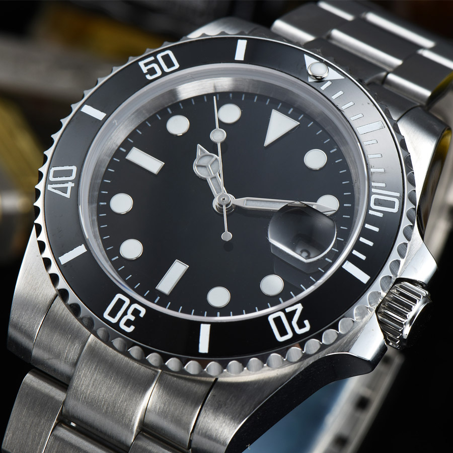 watch men automatic mechanical watch date 316L Solid stainless steel Luminous waterproof 40MM LLS11z