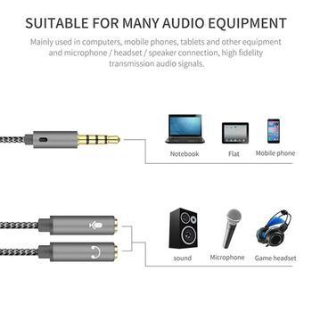 Przewód AUX Jack 3 5mm kabel Audio 3 5mm Jack Stereo Audio męski na 2 żeńskie słuchawki Mic Y Adapter kabla rozgałęźnego dropshipping tanie i dobre opinie aiboduo Gniazdo Męski-żeński 3 5mm Audio Splitter Cable CN (pochodzenie) Kable AUX Pakiet 1 Nieekranowany Brak Do iPoda