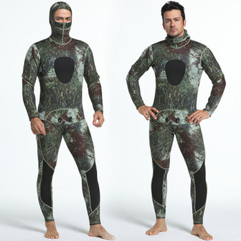 3mm Neoprene Wetsuits Camouflage Two-pieces Keep Warm Diving Wetsuits Swimming Snorkeling Spearfishing Scuba Diving Suits