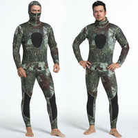 3mm Neoprene Wetsuits Camouflage Two pieces Keep Warm Diving Wetsuits Swimming Snorkeling Spearfishing Scuba Diving Suits