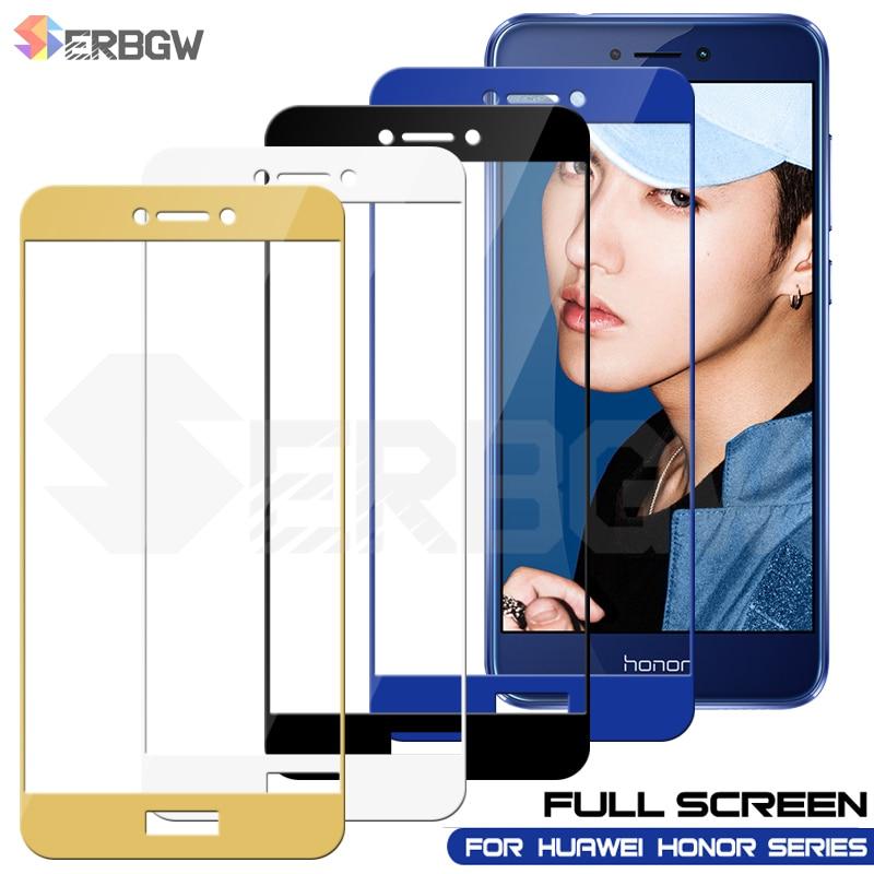 Full Cover Tempered Glass For Huawei Honor View  10 20 V8 V9 V10 V20 Protective Glass For HONOR 8 9 10 20 Lite Screen Protector
