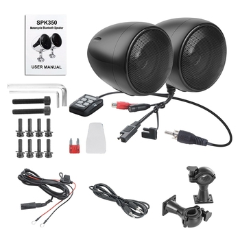 SPK350 4 Inches Waterproof Motorcycle ATV Bluetooth Speaker with 300W Built-In D-Class Amplifier