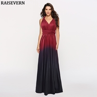 Women V neck Sleeveless Gradient Color Multiway Long Dress Elegant Party Bridesmaids Infinity Maxi Dress Femme Robe Vestidos