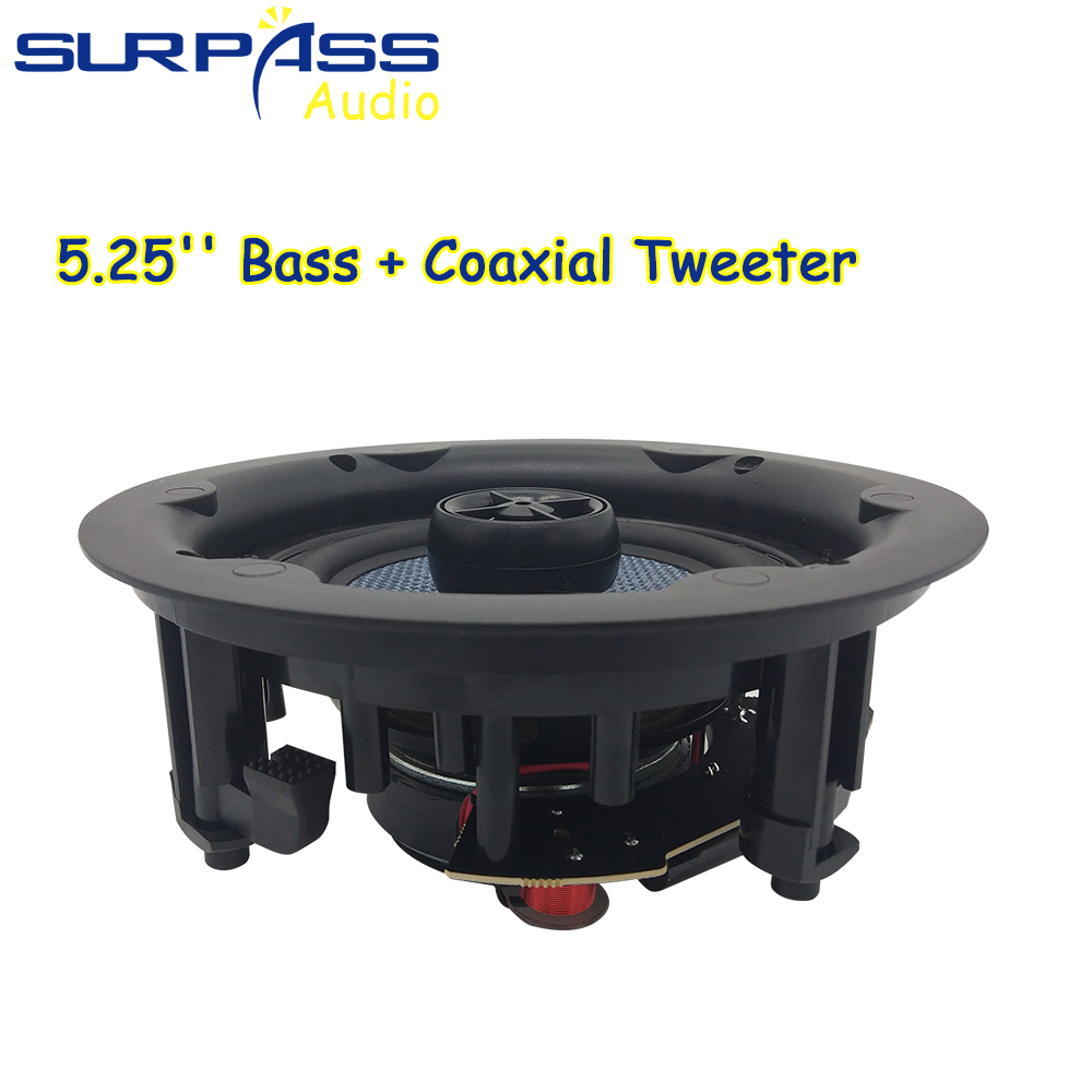 Waterproof Ceiling Speaker Bluetooth HiFi Stereo Sound Home Audio 25W PA System Coxial White Indoor Loudspeaker Background Music 4