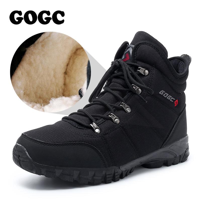 GOGC Winter Men's Ankle Boots Warm Men Winter Shoes Warm Snow Boots Shoes Men Winter Boots Men Winter Shoes For Men G9908