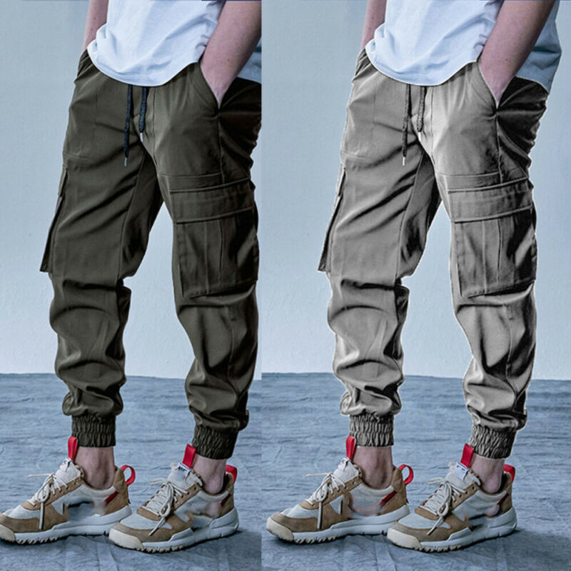 Yayu Mens Drawstring Hip-Hop Casual Harem Rock Running Relaxed Fit Jogger Pants
