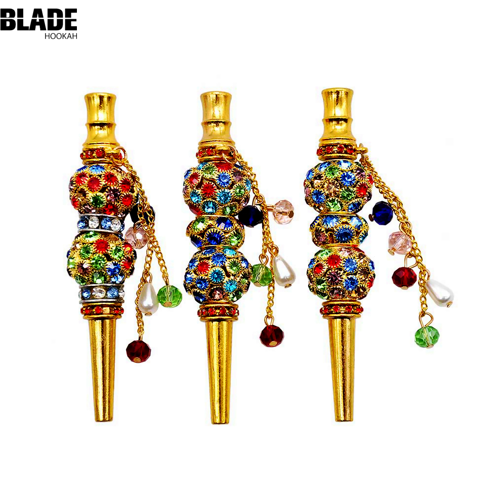 BLADE HOOKAH Handmade Inlaid Jewelry Hookah Mouthpiece Metal Shisha Mouth Tips Sheesha Chicha Narguile Hose Accessories