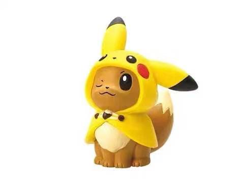 6PCS The Newest Genuine Capsules Pokemon Figurine Pikachu Ibu Small Fire Dragon Miao Frog Seeds Jenny Turtle Action Figure