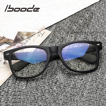 Iboode Retro kwadratowe ramki okularów do komputera dla kobiet mężczyzn spektakl optyczne krótkowzroczność okulary ramki moda Nerd Galsses ramki tanie i dobre opinie Unisex Z tworzywa sztucznego Stałe 200002143 200002197 144mm 52mm 19mm 142mm