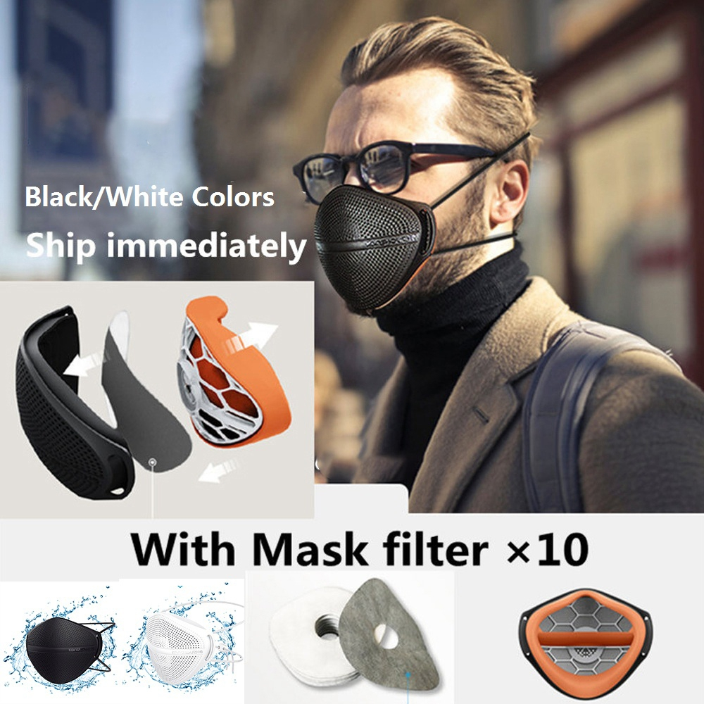 Anti Haze Mask PM2.5 Mouth Nose Disconnect-type Keep Warm Breathable Mask Washable Dust Masks Activated Carbon Patented Product