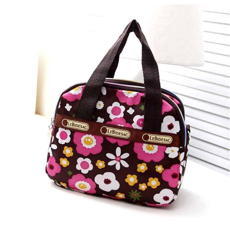2019 Fashion Lunch Bag Women Lady Shoulder Crossbody Bag Zipper Printing For Travel Shopping Money Mobile Phone Bolsa Termica