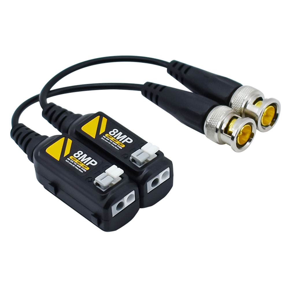1 Pair 8MP HD Transmitter Cable Transceiver Adapter CCTV Passive Video Balun Passive For HD AHD/CVI/TVI Video Signal