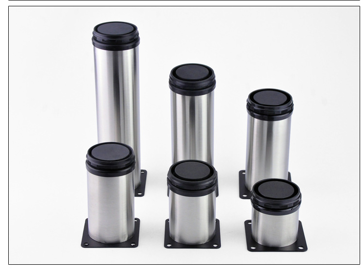 Stainless Steel Furniture Height Metal Adjustable Legs Feet Cabinet Table Sofa Bed Chair Legs Furniture Support Hardware Thicken