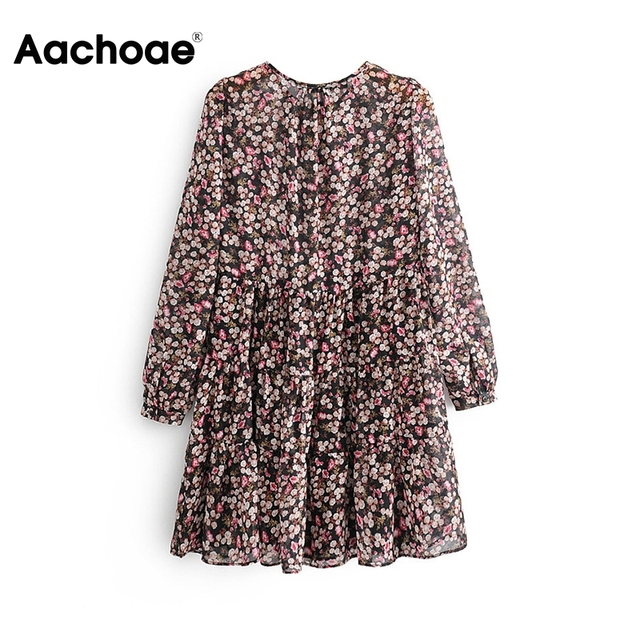 Aachoae Boho Style Floral Dress 3