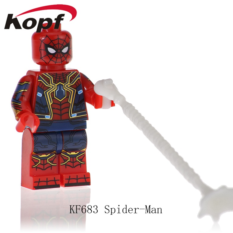 20Pcs KF683 Super Heroes Spiderman Captain Avengers Anti-Venom American Carnage Bricks Figures Action Learning Toy For Children image