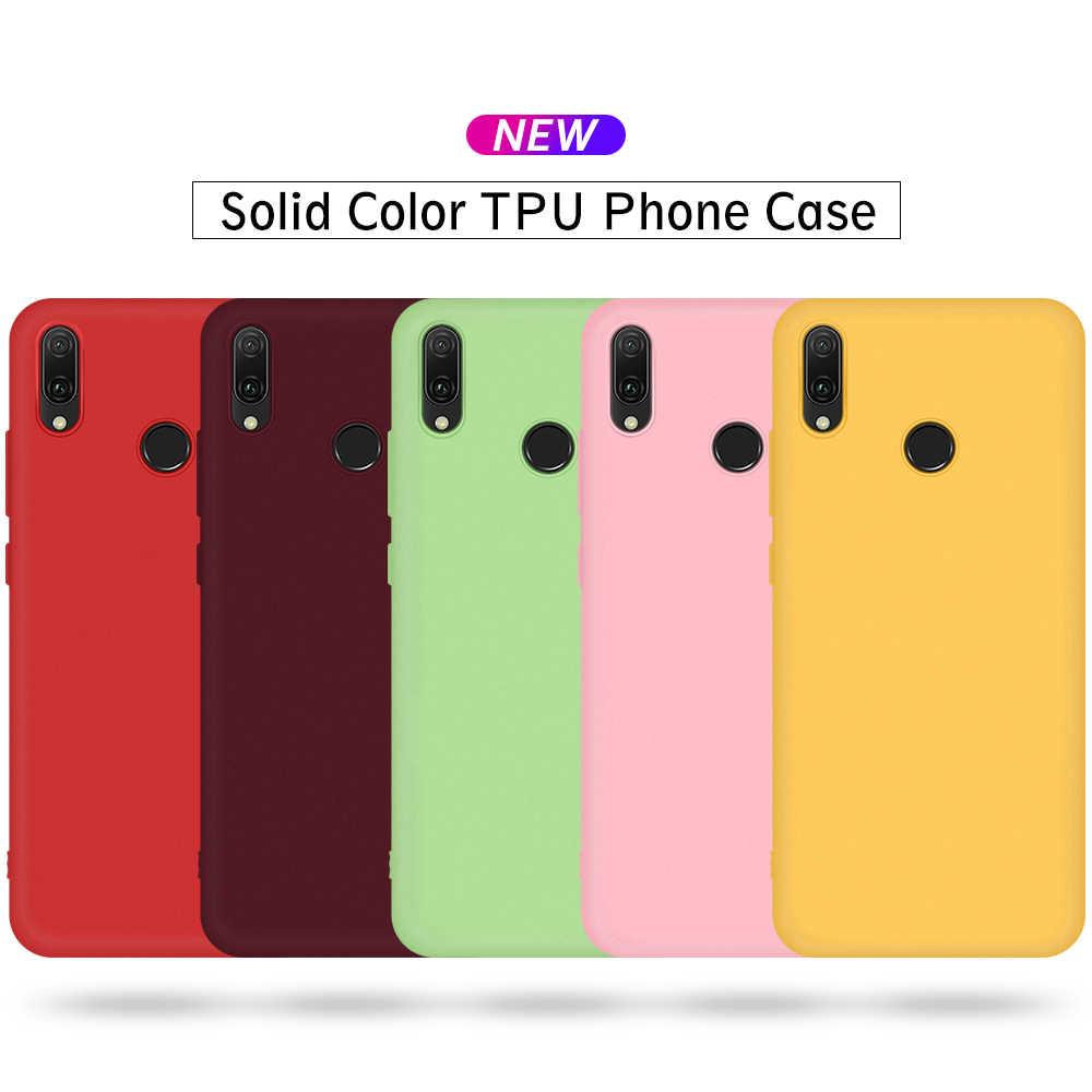 Doce Cor Caixa Do Telefone Para Huawei P30 P20 P10 Lite Pro 2019 Adorável Suave Capa Fundas Capa Para Huawei Honor 8X 4E 9X Pro Nova