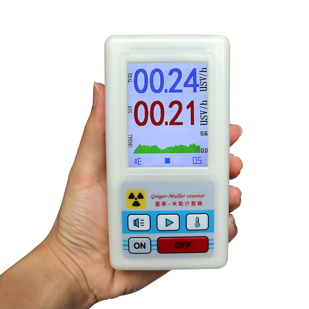 Color Screen Geiger Counter Display Nuclear Radiation Detector Personal Dosimeter Marble Detectors Beta Gamma X-ray Tester