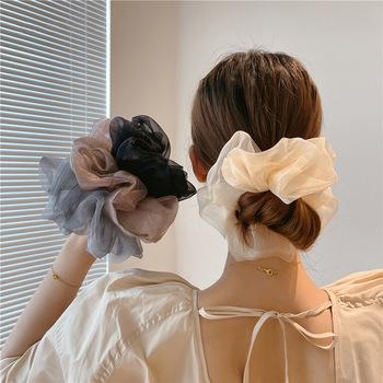 Lato nowy ponadgabarytowych gumka do włosów dla kobiet nakrycia głowy elastyczne Scrunchies kucyk Holder włosów gumowe Hairband dziewczyny akcesoria do włosów tanie i dobre opinie KAIGOTOQIGO CASUAL moda Z szyfonu RUBBER CN (pochodzenie) Cztery pory roku Adult Elastyczne gumki do włosów WOMEN Nakrycie głowy