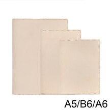 100% couro genuíno caderno livro planejador capa a6 a5 b6 magro para md diário original desenho sketchbook