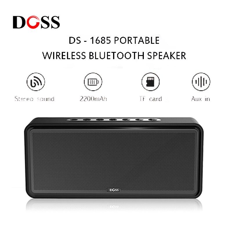 NEW DOSS DS 1685 Portable Wireless Bluetooth Soundbar Speaker High Quality Stereo Sound 3.5mm AUX Audio Input Subwoofer Speaker
