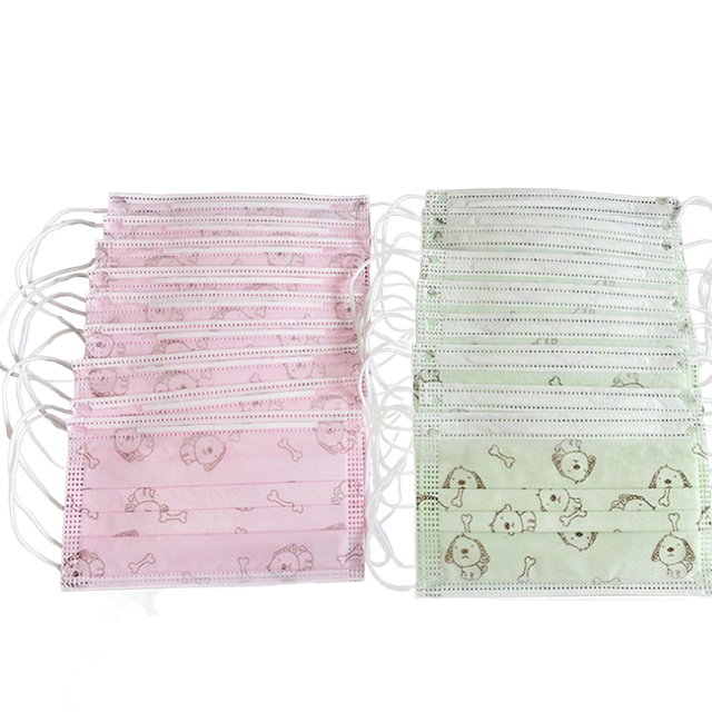 50pcs Anti-Flu Disposable Kids face Mask 4 layers mouth mask mouth madk Dust Respiratory Valve Mask Mouth Children gauze mask 3