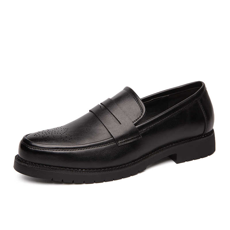 Retro ผู้ชายรองเท้า Brogue สไตล์ Party หนังอย่างเป็นทางการรองเท้าแต่งงานรองเท้าผู้ชายรองเท้าหนัง Oxfords Slip on Loafers 46