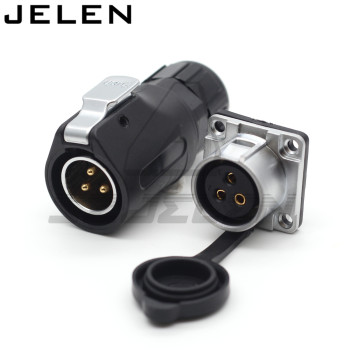 XHE20... IP67/2/3/4/5/6/7/8/9/10/12 pin impermeable conector M20 montaje en Panel conector de cable de alimentación macho y hembra 2
