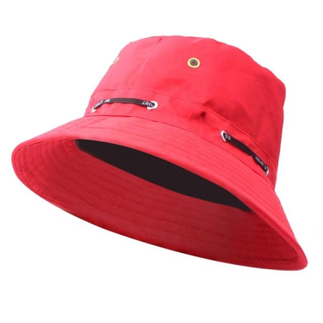 Adjustable Sun Hat outdoor sunproof hats for women men s panama hat red gray brown coffee