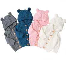 Baby Boy Knitting Cardigan Winter Warm Newborn Girl Infant Sweaters Fashion Long