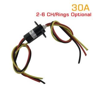 Image 1 - 1 sztuka 2/3/4/5/6 kanał 30A pierścień ślizgowy średnica 22mm/31mm obróć złącze pierścienie ślizgowe SRC 22 0X30A kapsułka przewodząca