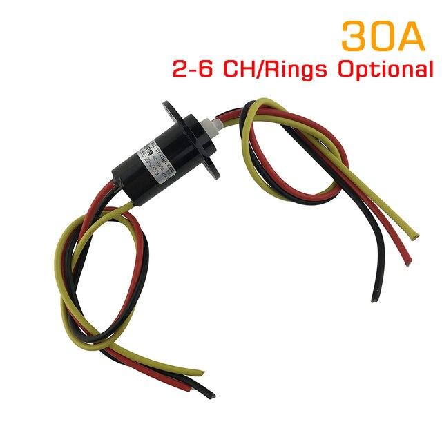 1 sztuka 2/3/4/5/6 kanał 30A pierścień ślizgowy średnica 22mm/31mm obróć złącze pierścienie ślizgowe SRC 22 0X30A kapsułka przewodząca