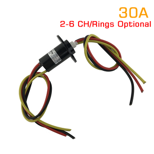 Image 1 - Large Current 30A 2/3/4/5/6 Channel Slip Ring 22mm/31mm Rotate Connector Slip Rings SRC 22 0X30A Capsule Conductive Slip ring