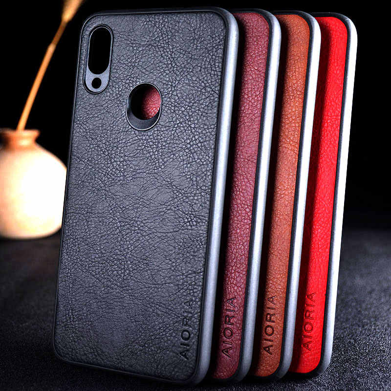 for xiaomi redmi note 7 case funda luxury Leather Vintage litchi pattern skin capa cover case for xiaomi redmi note 7 pro coque